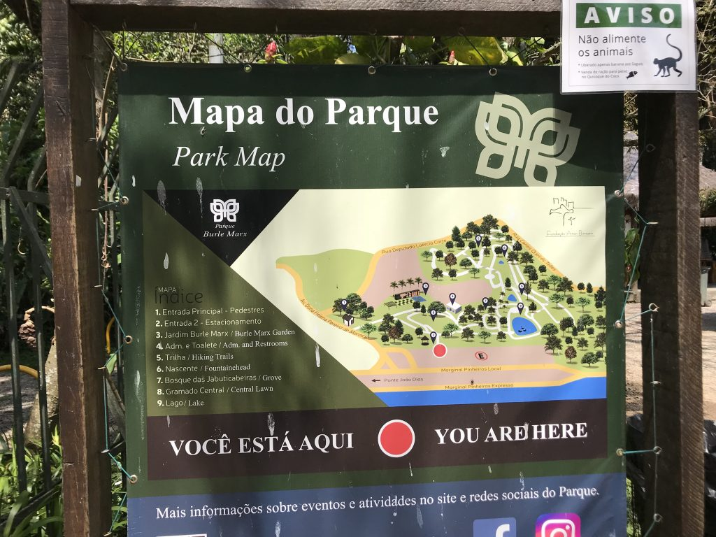 Mapa do Parque Burle Marx